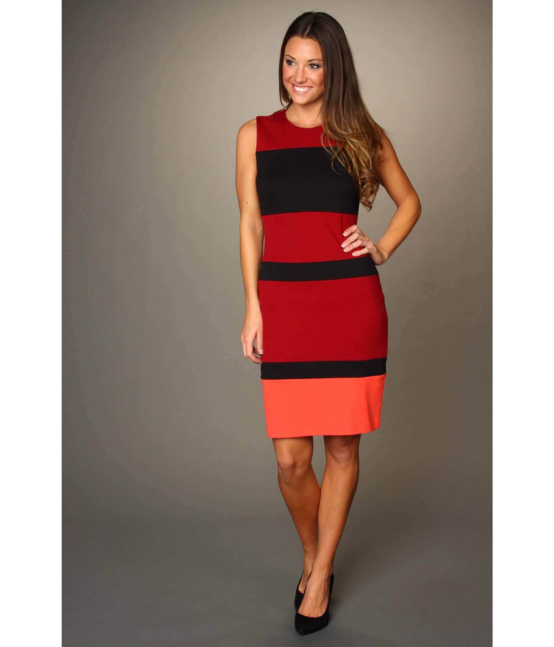 Calvin Klein Color Block Shift Dress SKU #8085532